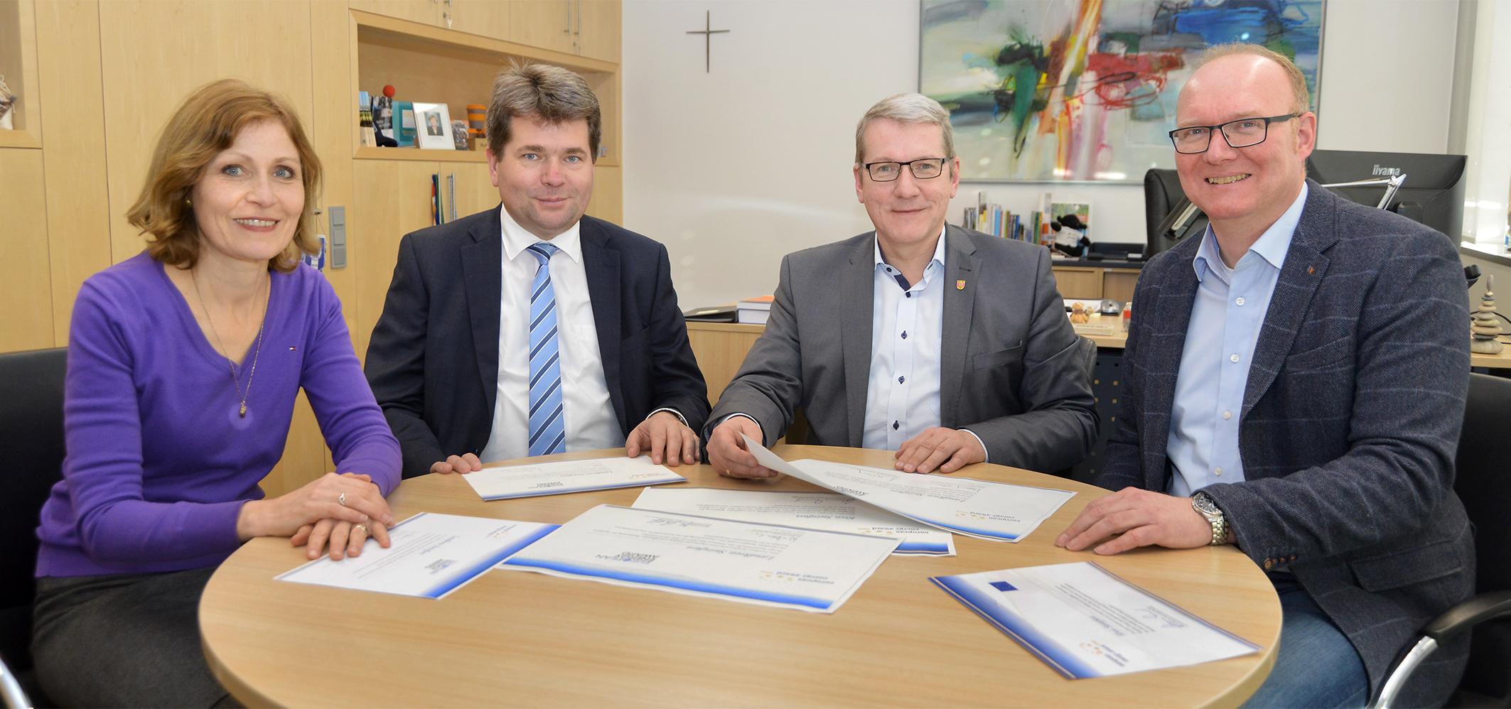 European Energy Award: Kreis Steinfurt Ontvangt Voor De Derde Keer Een Gouden Plak